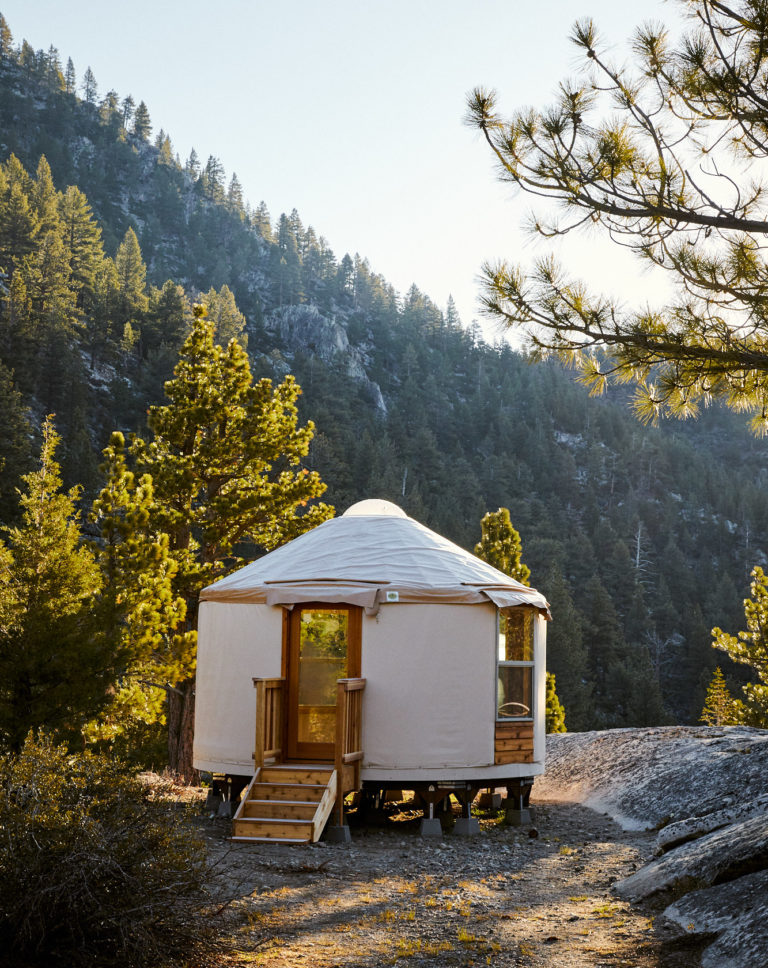 Yurt lodging in the mountains