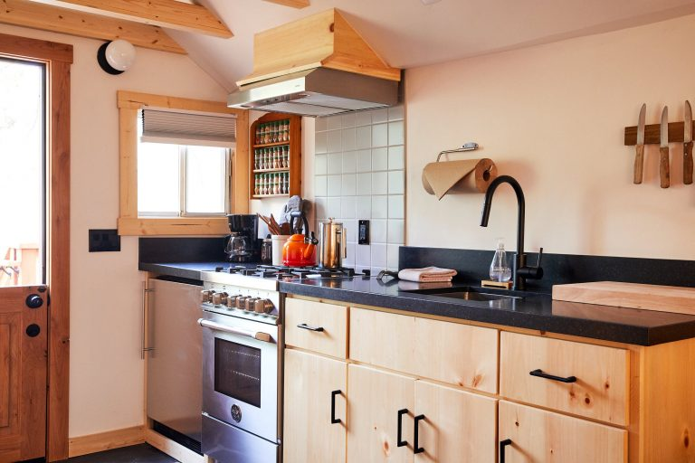 kitchen in guest room
