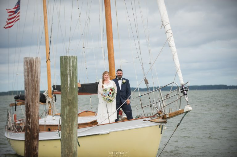 wedding photo on boat