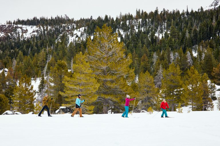 Cross country skiing in Hope Valley